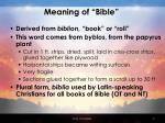 meaning of bible