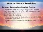 more on general revelation