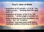 paul s view of bible
