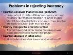 problems in rejecting inerrancy