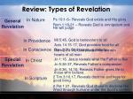 review types of revelation