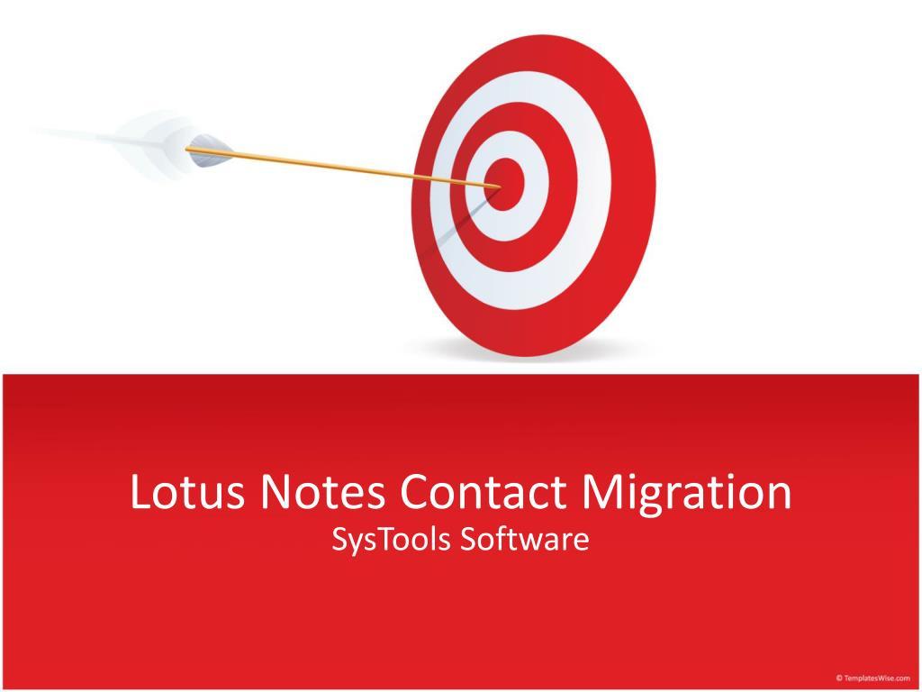 lotus notes contact migration l.