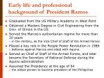 early life and professional background of president ramos