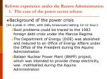 reform experience under the ramos administration 1 the case of the power sector reform