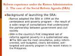 reform experience under the ramos administration 2 the case of the social reform agenda sra