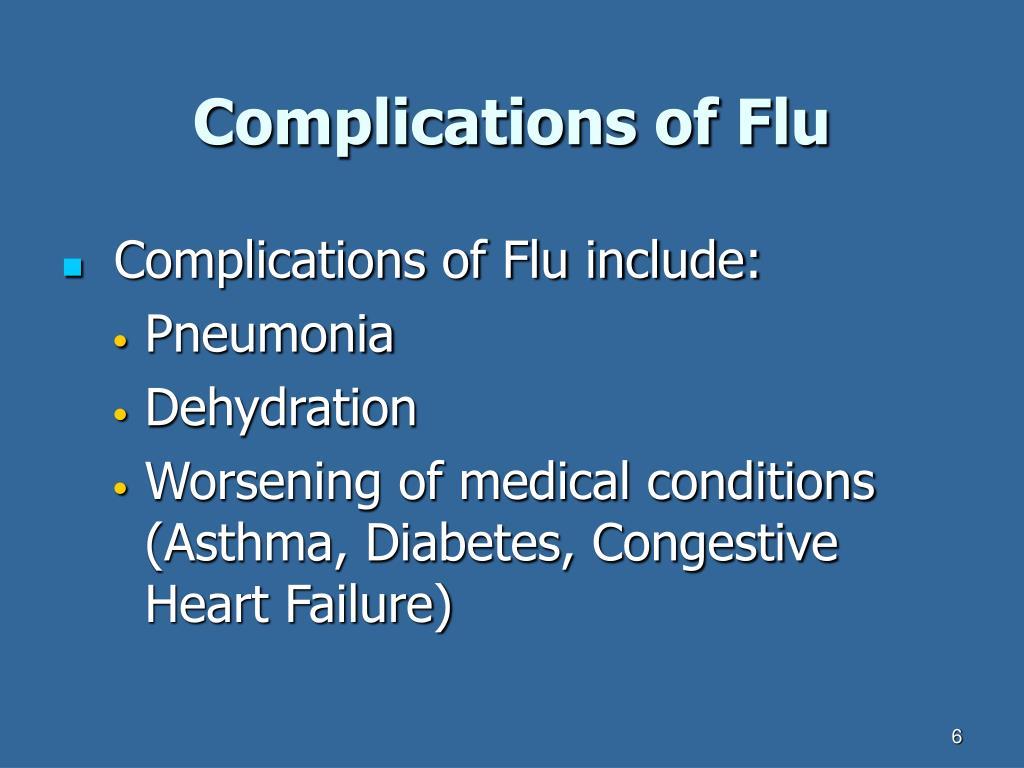 Complications of Flu