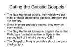 dating the gnostic gospels