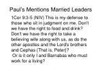paul s mentions married leaders