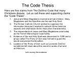 the code thesis