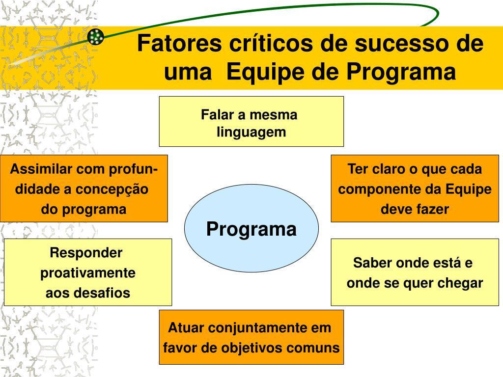 Fatores críticos de sucesso de