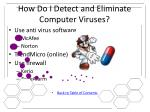 how do i detect and eliminate computer viruses
