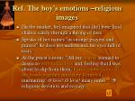 ref the boy s emotions religious images