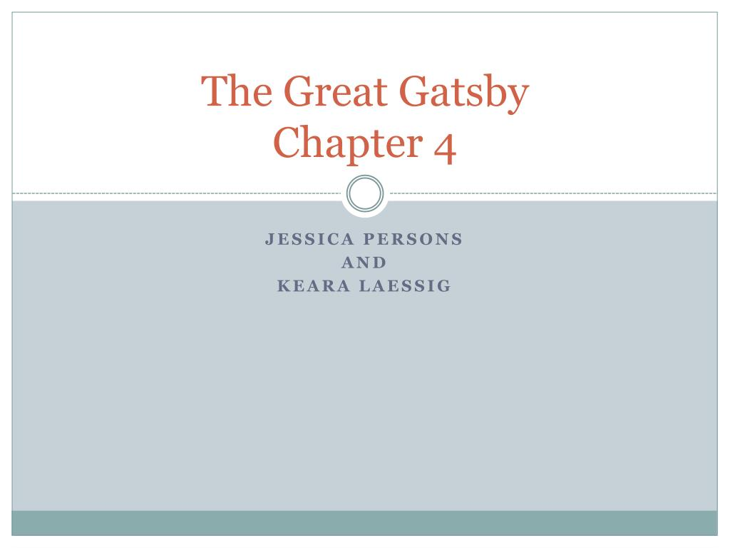 the great gatsby chapter 4 l.