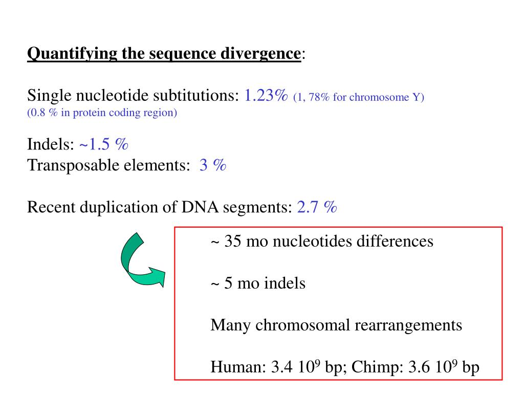 Quantifying the sequence divergence