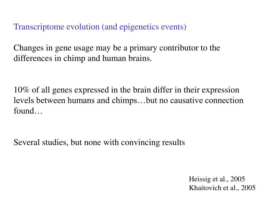 Transcriptome evolution (and