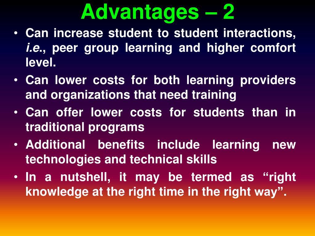 Advantages – 2