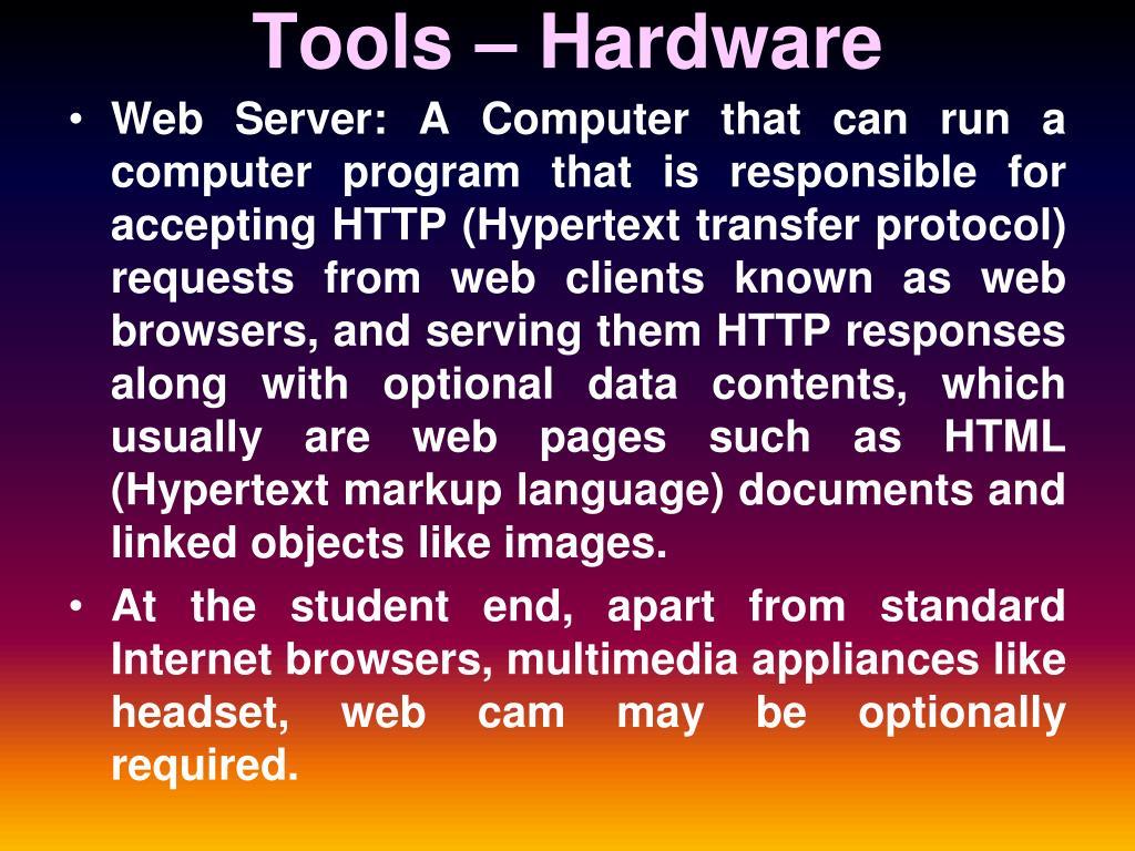 Tools – Hardware