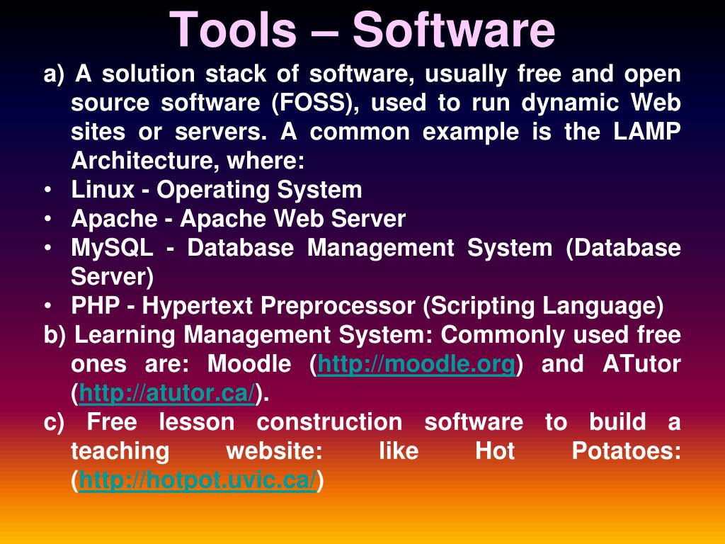 Tools – Software