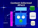 context informed apels