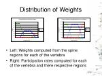 distribution of weights