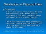 metallization of diamond films4