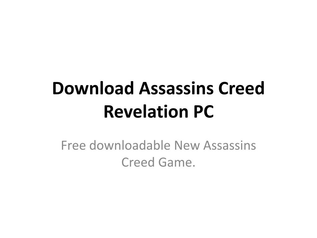 download assassins creed revelation pc l.
