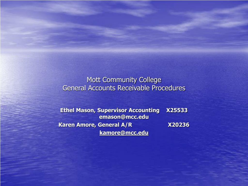 mott community college general accounts receivable procedures l.