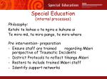 special education internal processes