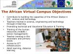 the african virtual campus objectives