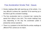 free acceleration smoke test issues