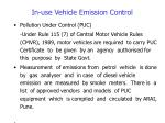 in use vehicle emission control