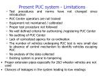 present puc system limitations