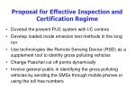 proposal for effective inspection and certification regime