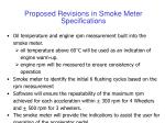 proposed revisions in smoke meter specifications