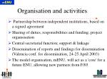 organisation and activities