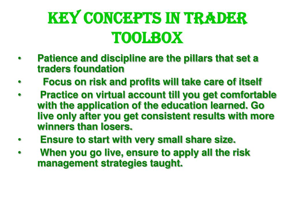 key concepts in trader toolbox l.