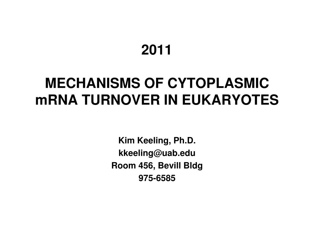 2011 mechanisms of cytoplasmic mrna turnover in eukaryotes l.