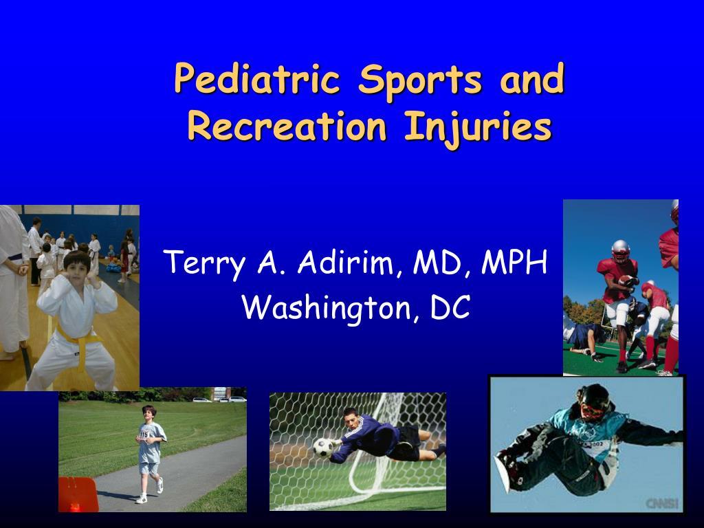 pediatric sports and recreation injuries l.