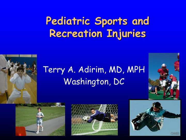 pediatric sports and recreation injuries n.