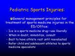 pediatric sports injuries53