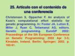 25 art culo con el contenido de una conferencia