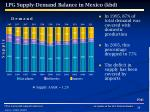 lpg supply demand balance in mexico kbd