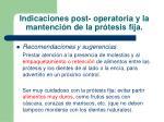 indicaciones post operatoria y la mantenci n de la pr tesis fija33