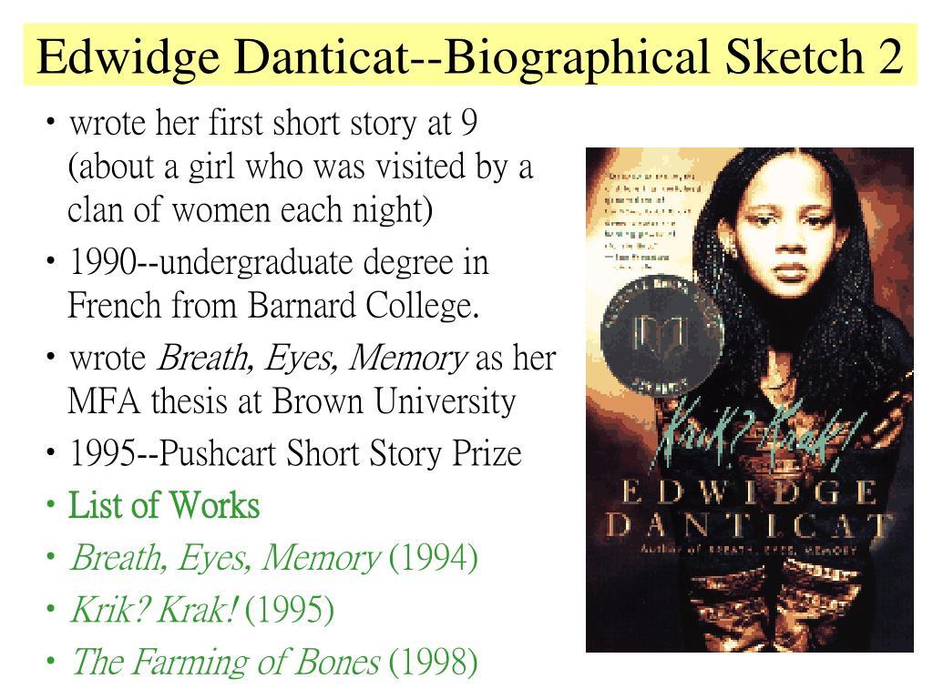 the relationships of three generations of women portrayed in edwidge danticats breath eyes memory