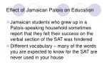 effect of jamaican patois on education