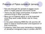 presence of patois outside of jamaica