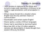 slavery in jamaica