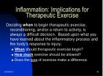 inflammation implications for therapeutic exercise