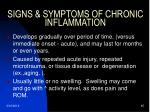 signs symptoms of chronic inflammation