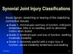 synovial joint injury classifications